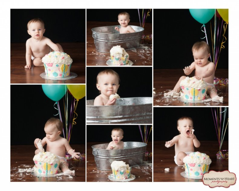 Cake smash first birthday