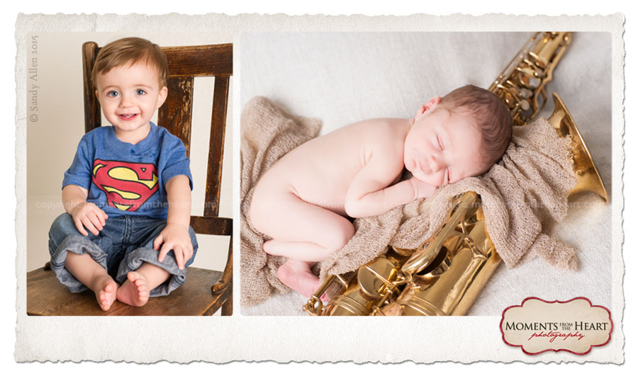 what a difference a year makes - baby photos