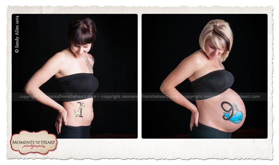 beautiful progression maternity photography