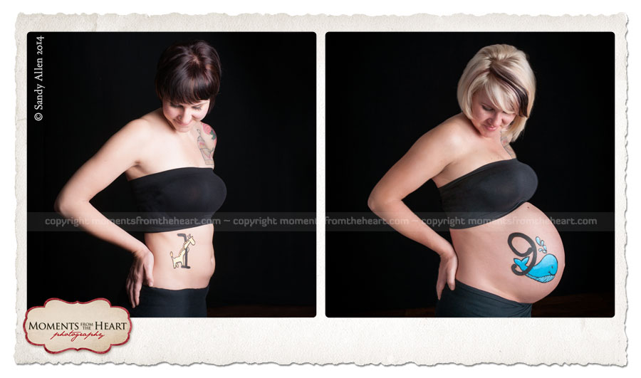 beautiful progression maternity photography