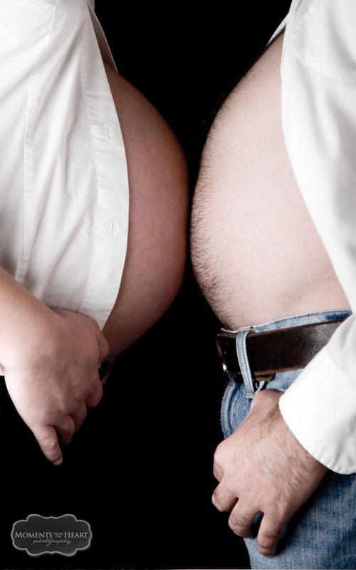 fun maternity couple Austin pregnancy photo shoot