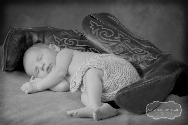 austin newborn photographer - these boots were made for napping