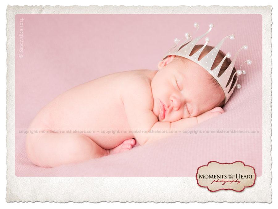 newborn photo cake topper