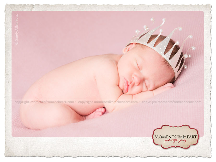 newborn photo cake topper