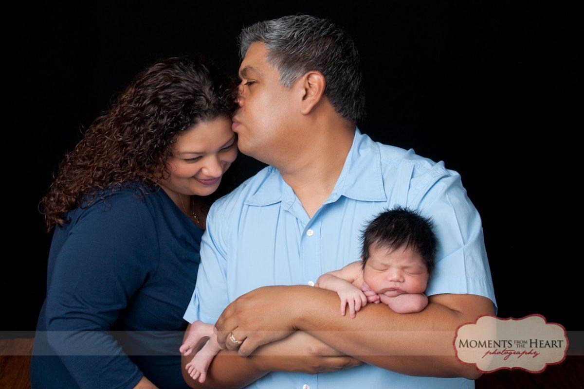 happy newborn family
