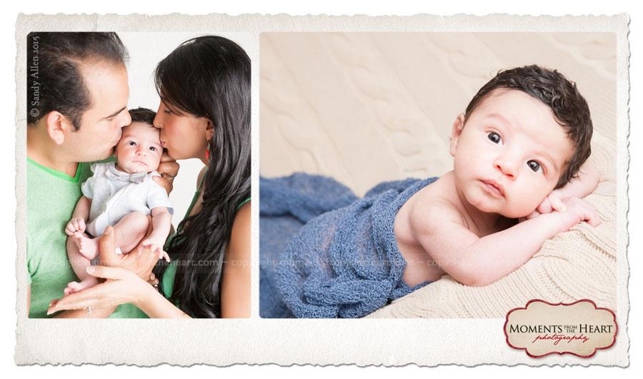 Newborn baby and couple