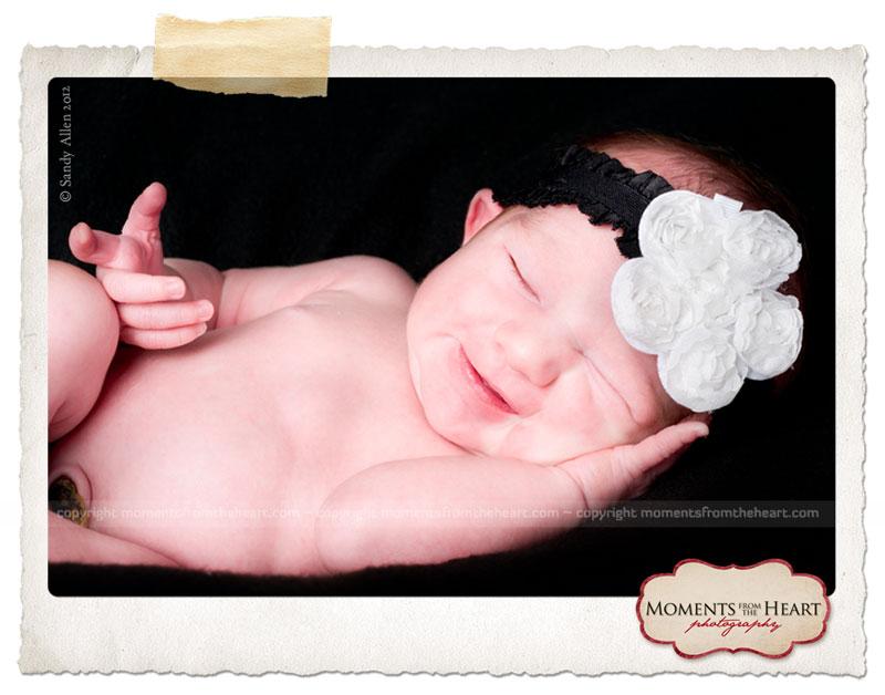 Newborn baby little Texas belle