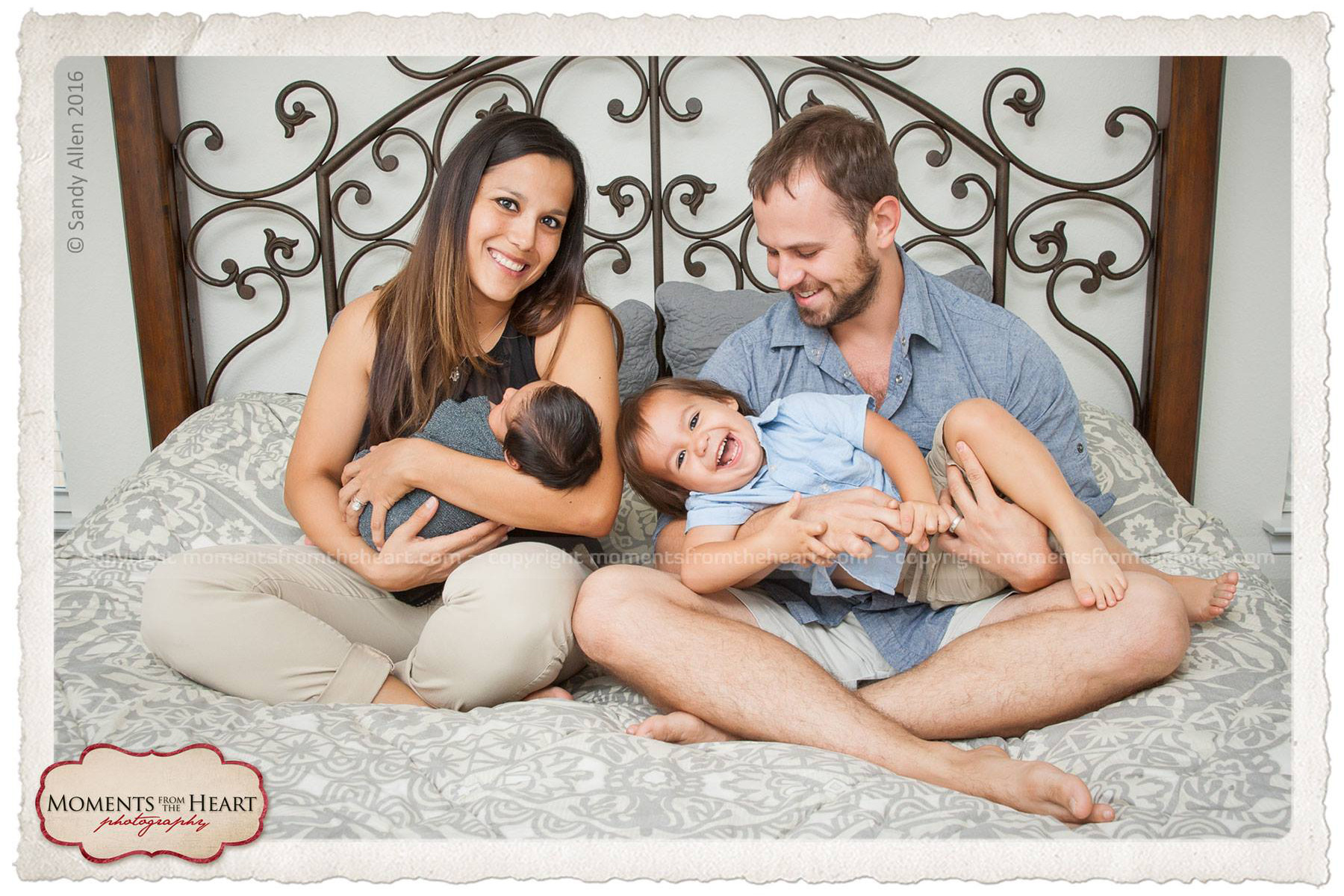 Family Fun Newborn Lifestyle photo session