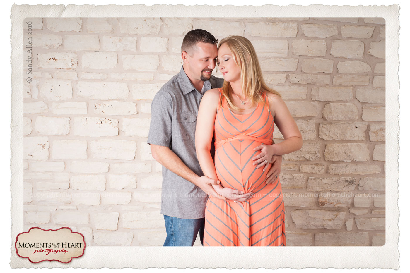 beautiful romantic maternity couple photo session