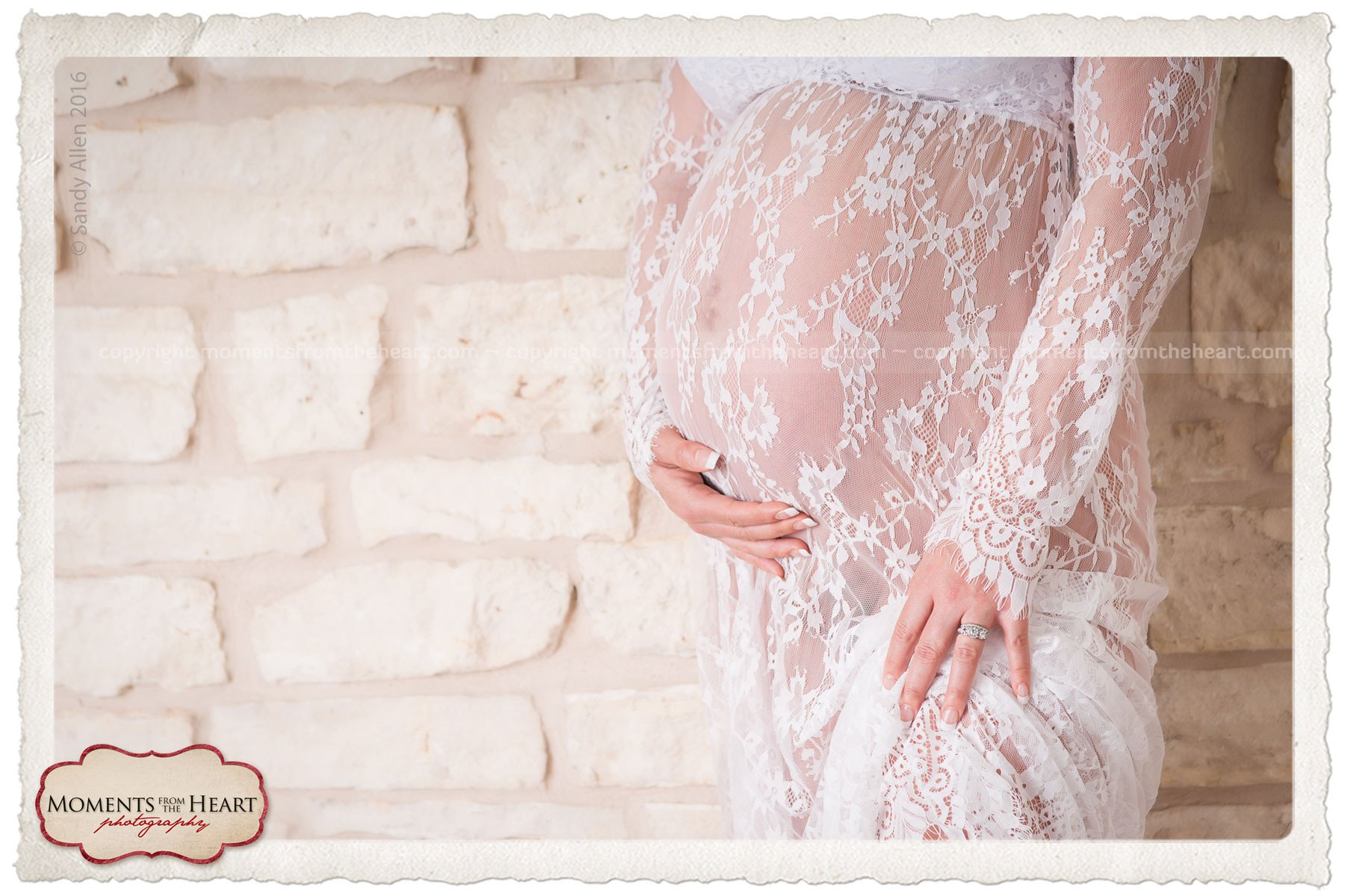 beautiful maternity white lace