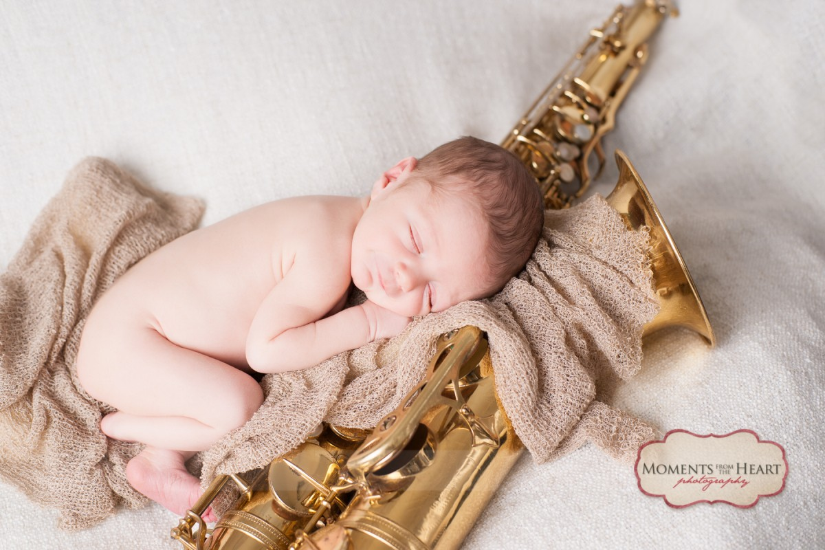 newborn saxaphone